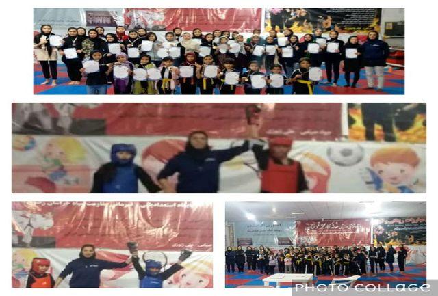 مسابقات ووشو دختران در قوچان برگزار شد