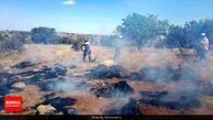 آتش به جان ۱۰ هکتار از پارک ملی بموی شیراز افتاد