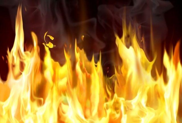 آتش سوزی ساختمان تجاری 25 طبقه در حوالی بزرگراه خرازی