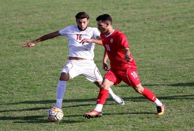 بازی درون تیمی ملیپوشان امید در زمین پیکانشهر