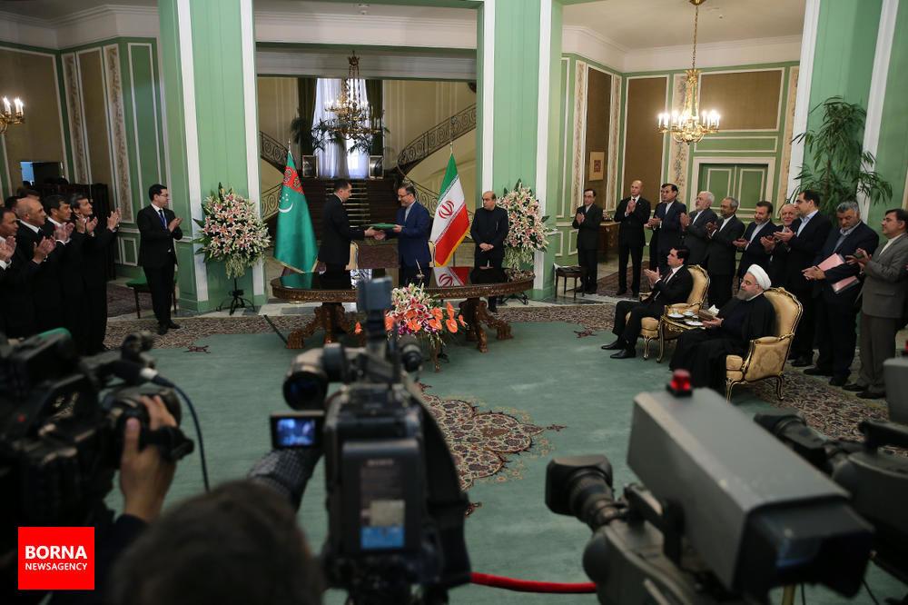 امضای+اسناد+و+مصاحبه+مشترک+با+رئیسجمهور+ترکمنستان