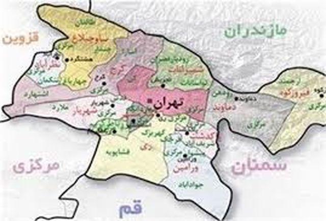 آخرین وضعیت کرونا در شهرهای استان تهران + نمودار
