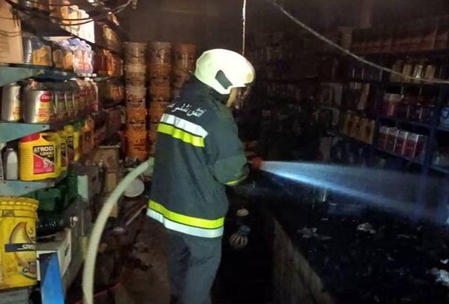 آتشسوزی هولناک در مغازه تعویض روغنی+ عکس
