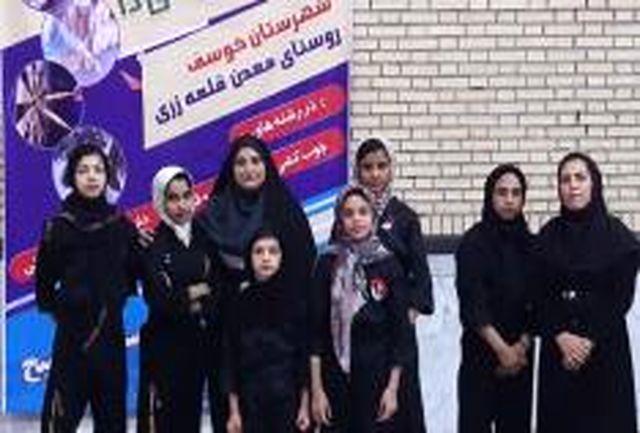 تجلیل از دختران کونگ فو کار، المپیاد استعدادهای برتر کشوری، در روستای قلعه زری شهرستان خوسف