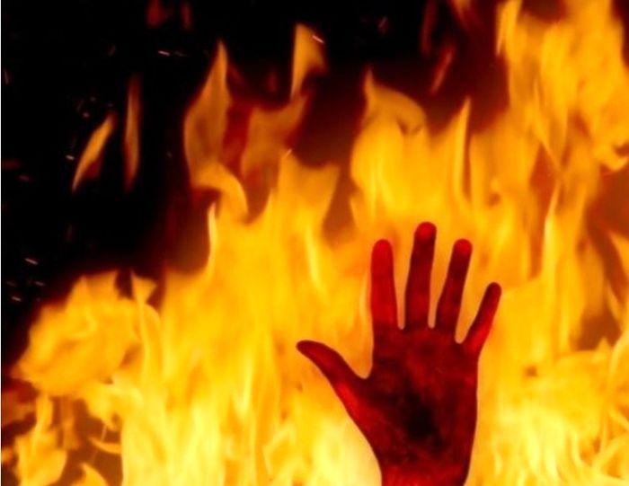 در آتش سوختن نگهبان مبحوس شده در مجتمع مسکونی