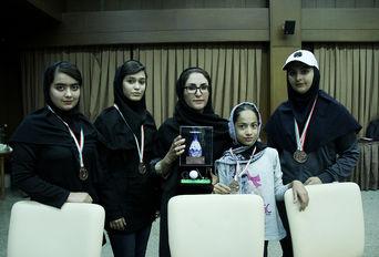 مراسم اختتامیه مسابقات گلف قهرمانی کشور بانوان