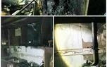 آتش سوزی در آشپرخانه منزل مسکونی/ حبس بانوی ۶۱ ساله در دود و آتش
