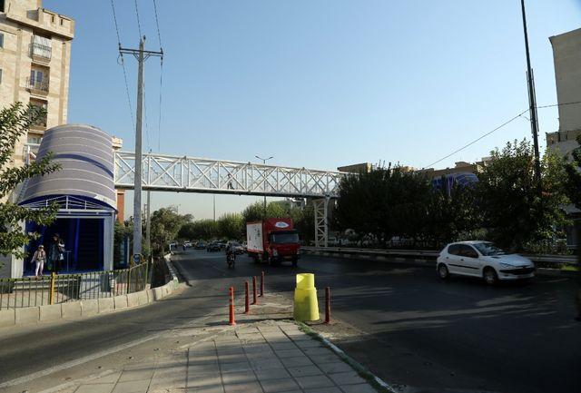 اتمام عملیات احداث پل مکانیزه بزرگراه شهید تندگویان