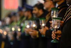 مراسم شمعدان گردانی خادمان آستان بانوی کرامت برگزار شد