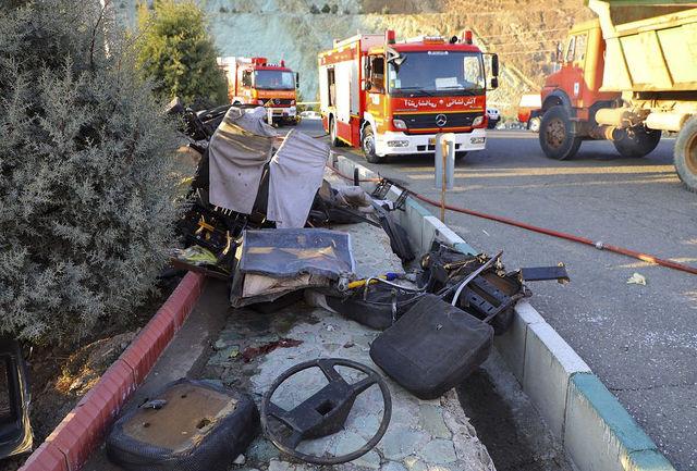 واژگونی پژو پارس جان راننده 54 ساله را گرفت