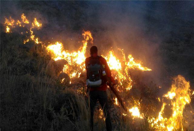 جوامع محلی با نیروهای اطفاء حریق منابع طبیعی در هنگام آتش سوزی همکاری کنند