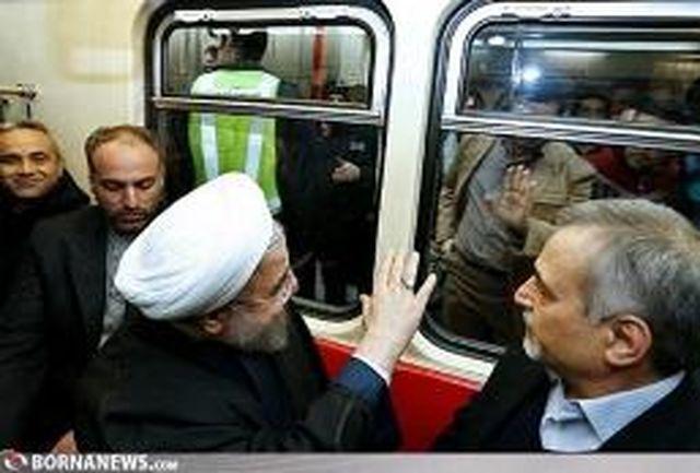 غافلگیری شهرداری تهران از حضور رییس جمهوری در مترو