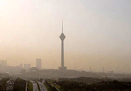 هوای تهران با افزایش دما و افزایش ازن آلوده می شود