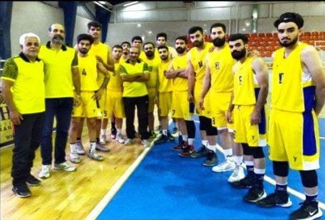برد شیرین بسکتبال لرستان در مسابقه پایانی دور رفت لیگ دسته دوم مردان کشور