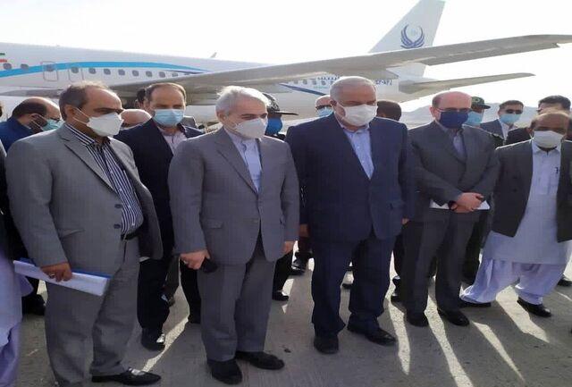 محمدباقر نوبخت وارد زاهدان شد