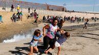 نمایش چهره منفور ترامپ در مواجهه با مهاجران