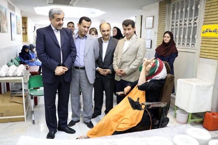 بازدید فرماندار و نماینده مردم لاهیجان وسیاهکل از آسایشگاه خیرین کهریزک