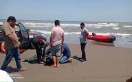 جوان ۲۵ ساله از غرق شدگی در دریای کاسپین نجات یافت