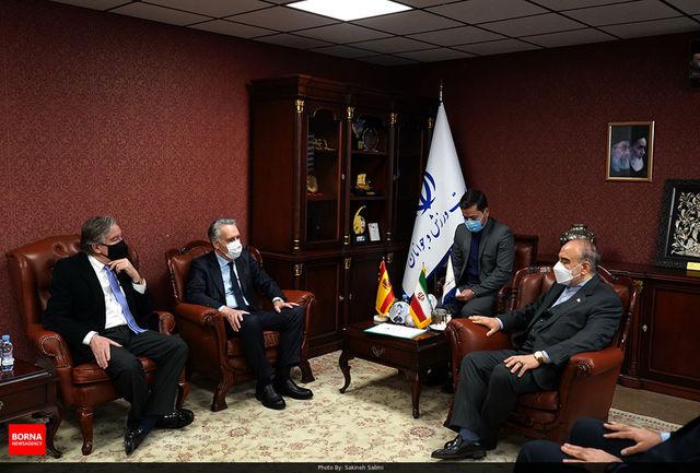 دکتر سلطانی فر:آماده هرگونه همکاری ورزشی با اسپانیا هستیم/ لوئیس فیلیپه فرناندز: ایران ظرفیت بالایی در ورزش دارد