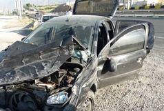 تصادف پژو با اتوبوس دو مصدوم برجای گذاشت