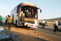 علل حادثه واژگونی اتوبوس در جاده آرادان - سرخه