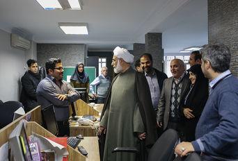 حضور حجتالاسلاموالمسلمین منتجبنیا در خبرگزاری برنا