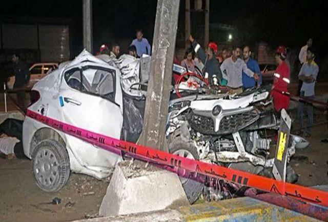 دو کشته و مصدوم در حادثه برخورد خودرو در جاده چهچکور بندرعباس