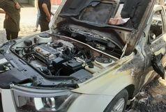 آتش سوزی خودرو دنا و پمپ بنزین کمپلو حادثه ساز شد+ببینید