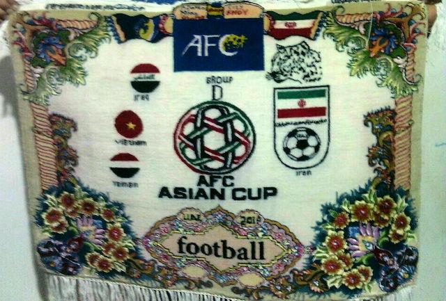 بافته شدن تابلو فرش جام ملت های آسیا در خوی