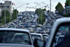 ترافیک نیمهسنگین در آزادراه کرج- قزوین و تهران- کرج