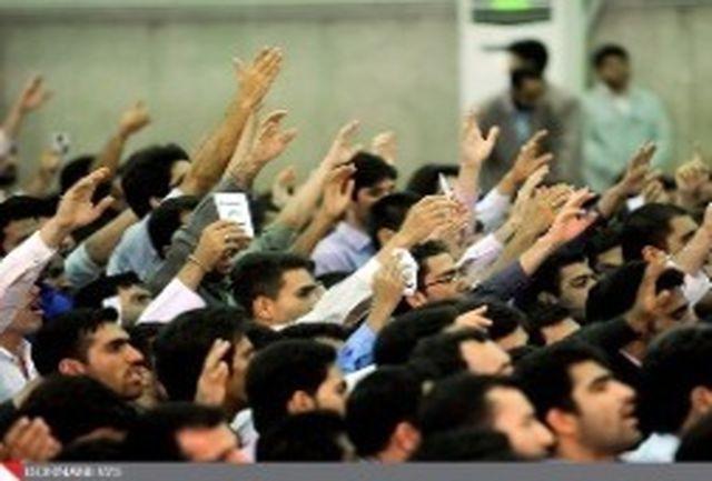 عکس: سفره افطاری رهبر انقلاب در دیدار با دانشجویان
