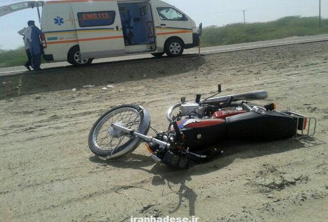 سرعت غیر مجاز دختر موتور سوار را به کام مرگ کشید