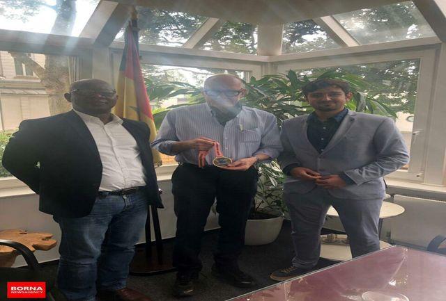 دیدار مدیر عامل ایرانی باشگاه مونستر با سفیر سنگال در آلمان