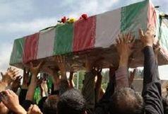 خاکسپاری جانباز حاج حسین بیدرام  در شاهین شهر