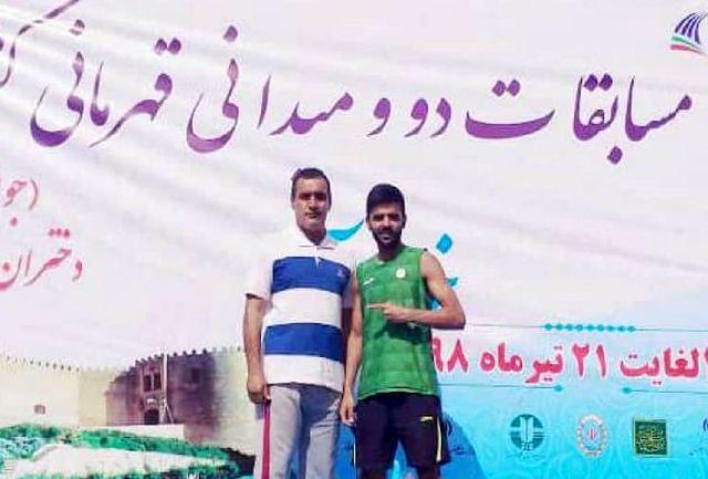 قهرمانی ورزشکار سیستان و بلوچستان در مسابقات دوومیدانی جوانان کشور