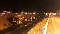 کشته و زخمی شدن 33 تن در واژگونی هولناک اتوبوس نیشابور- مشهد + عکس