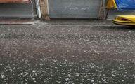 بارش تگرگ مردم شهریار را هم غافلگیر کرد+فیلم
