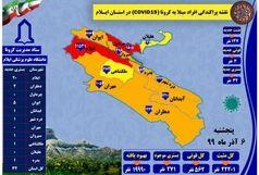 آخرین و جدیدترین آمار کرونایی استان ایلام تا ۶ آذر ۹۹