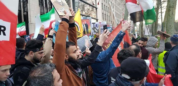 مسلمانان بلژیک در اعتراض به ترور سردار سلیمانی راهپیمایی کردند