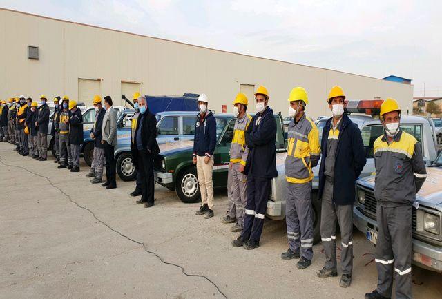 مانور جهادی بازسازی شبکه های توزیع برق در منطقه صنعتی لیای قزوین اجرا شد