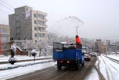 آمادگی مدیریت شهری در زمان بارش برف و یخبندان در سنندج