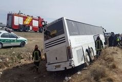25 مصدوم و یک کشته دربرخورد اتوبوس با تریلی /دومین تصادف مرگبار اصفهان در یک هفته