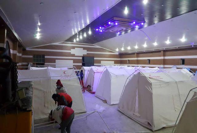 برپایی دو اردوگاه اسکان اضطراری و فعالیت ۱۰ تیم ارزیاب در شهر سی سخت توسط هلال احمر