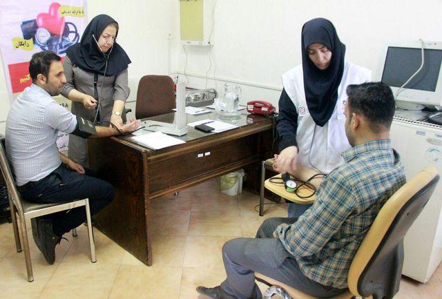 سنجش سلامت و غربالگری فشار خون کارکنان آبفای منطقه 6 شهرری