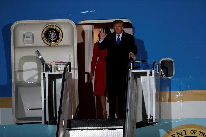 ورود ترامپ به لندن برای شرکت در اجلاس سران ناتو