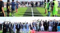 زمین چمن مصنوعی مینی فوتبال روستای وشنام دری شهرستان چابهار افتتاح شد