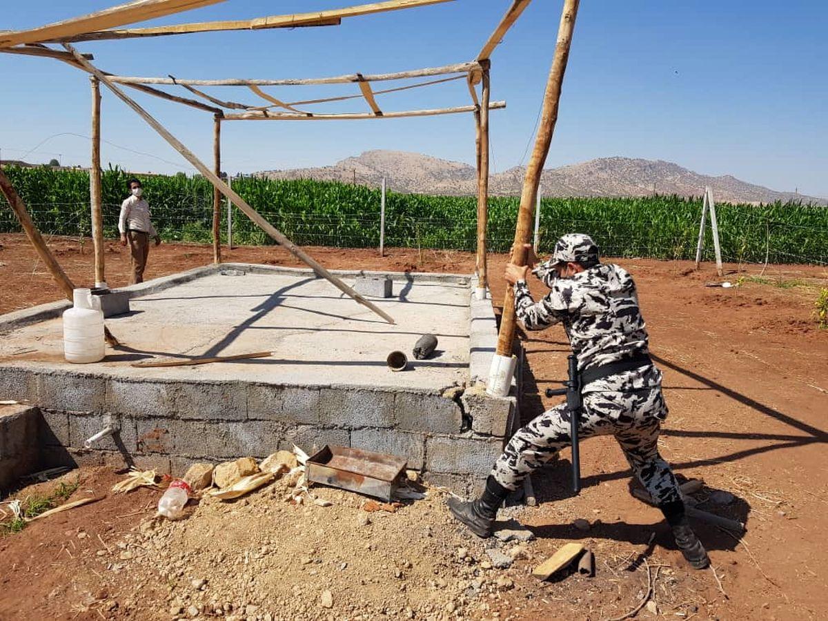 تخریب ساخت و ساز  غیرمجاز در اراضی کشاورزی خرم آباد
