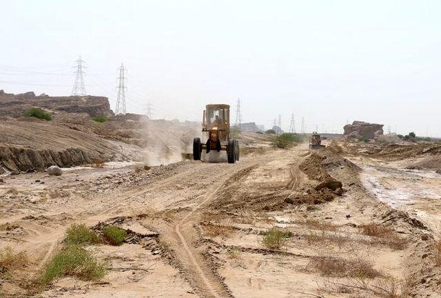 پیشرفت فیزیکی 80 درصدی عملیات مکانیکی سردره پایین شهرستان حاجی آباد
