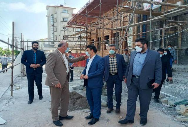 بازدید فرماندار رشت از روند اجرای پروژه  زورخانه امام علی (ع) رشت