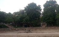 خشکیدکی سراب کیو و گرداب سنگی خرم آباد بر اثر خشکسالی